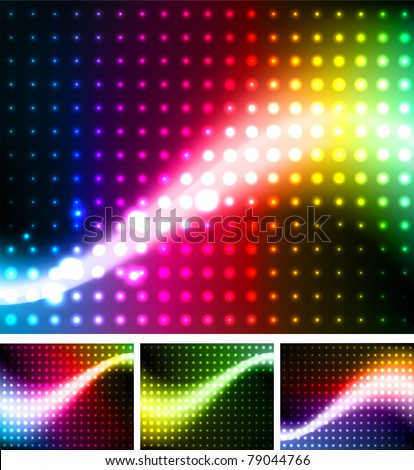 Abstract background colorful lights, vector.