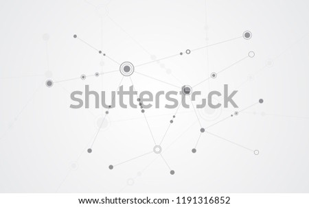 Abstract background connecting innovation dots and line communication concept