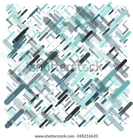 Abstract background consisting of colorful lines with rounded edges of different sizes