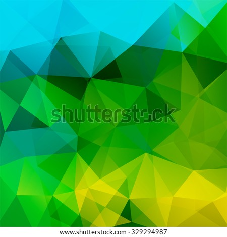 stock-vector-abstract-background-consisting-of-green-yellow-blue-triangles-vector-illustration