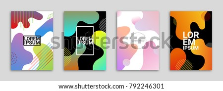 Abstract Background Cover / Flyer / Poster / Album Template Bundle - Blob Wavy Minimal Gradient.