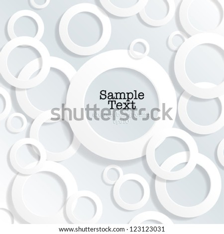 Abstract Background 3d Circles - vector eps10 - stock vector