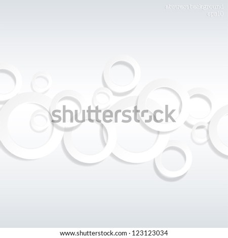 Abstract Background 3d Circles - vector eps10