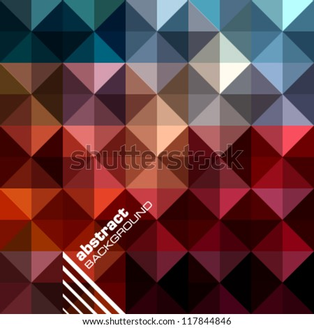 Abstract background design vector. Triangles mosaic design template.