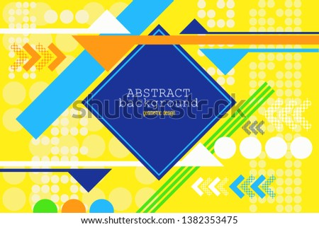 Abstract background designed with the arrangement of colors and styles in modern styles.
