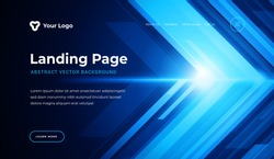 Abstract background dynamic geometric shapes website landing page or banner template modern style vector illustration. Technology lines composition for poster cover and web site background.