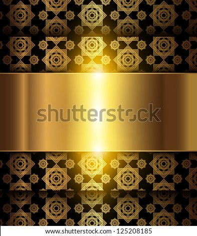 Abstract background, elegant gold, vector.