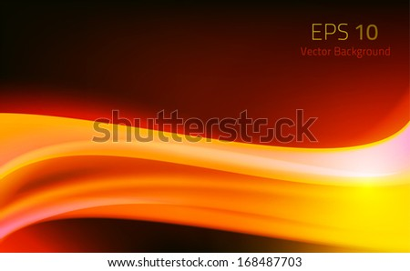abstract background fire wave