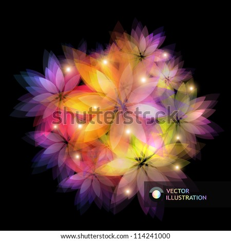 Abstract background Floral illustration.