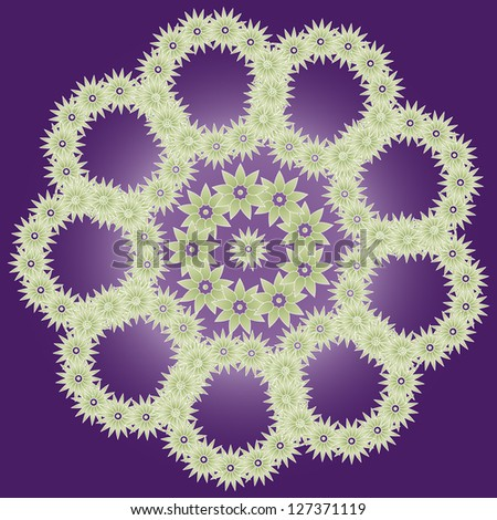 abstract background, flower, flowers, purple background, green flowers, pattern, illustration, vector, art, card