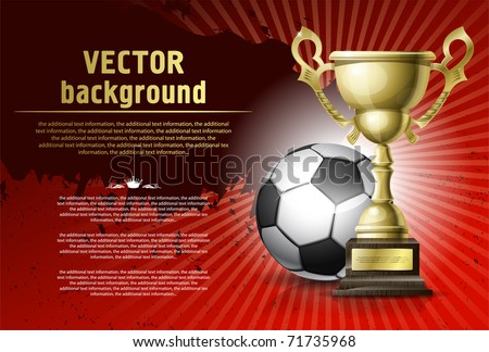 Abstract background for design on a football theme