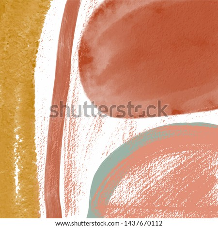 Abstract background. Fragment of impressionism artwork. Modern contemporary art. Watercolor painting with shapes, lines.