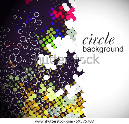 Abstract background from color circle background, vector illustration.