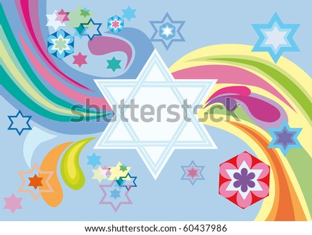 Abstract background from the stars of David