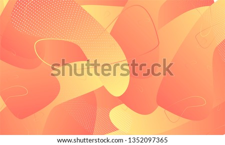 Abstract background futuristic elements on living coral color in the style minimalism banner geometric purple gradient texture with lines