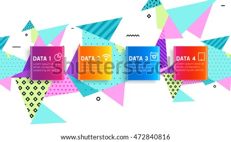 Abstract Background. Geometric Triangles Pattern for Business Presentations, Application Cover and Web Site Design. Vector Illustration. #472840816