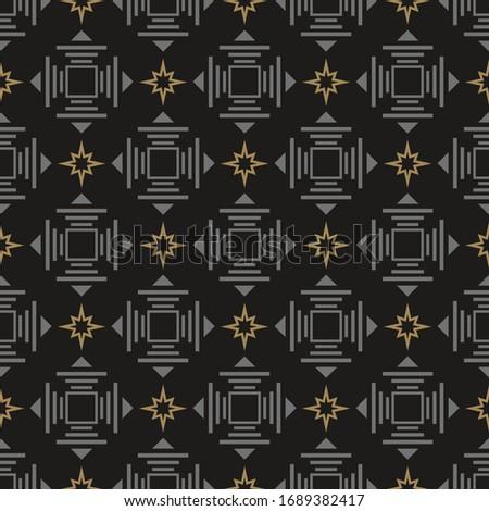Abstract background geometric vector pattern. Dark seamless Wallpaper, design texture.