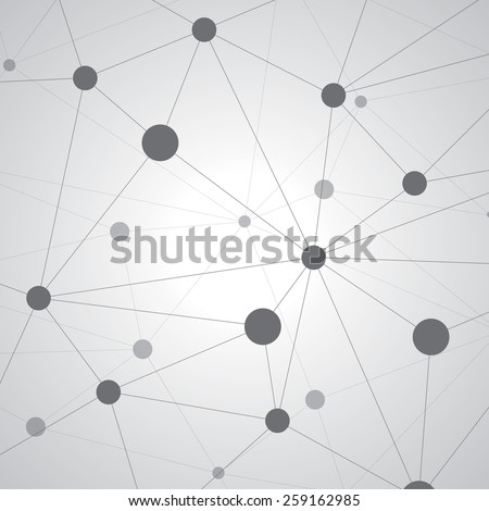 Abstract background, geometry, lines and points