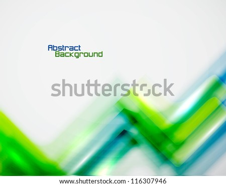 Abstract background: glossy blurred zigzag lines