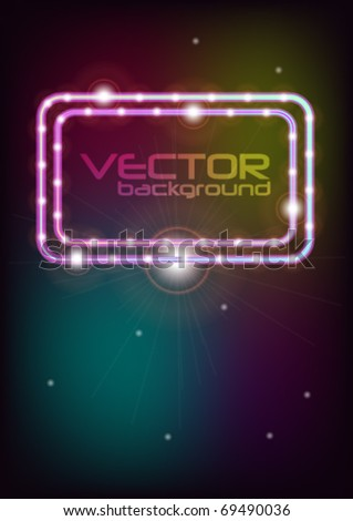 Abstract Background - Glowing Frame on Multicolor Background