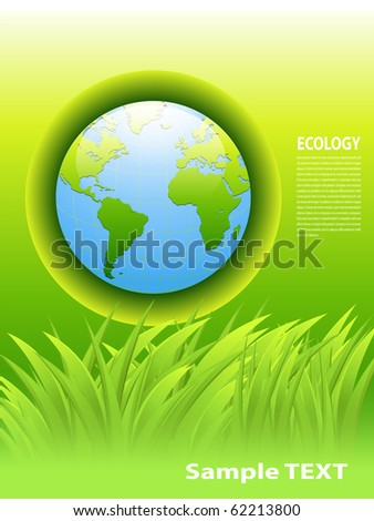 abstract background green earth concept, vector