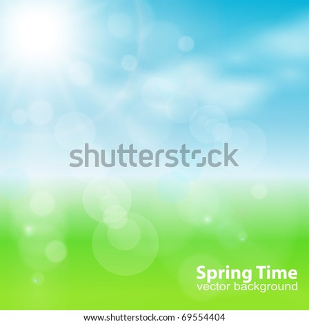 abstract background green, light and sunny , vector. - Shutterstock ID 69554404