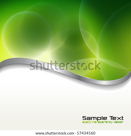 Abstract background  green lights. Vector illustration.