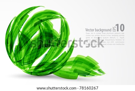 abstract background. green sphere.