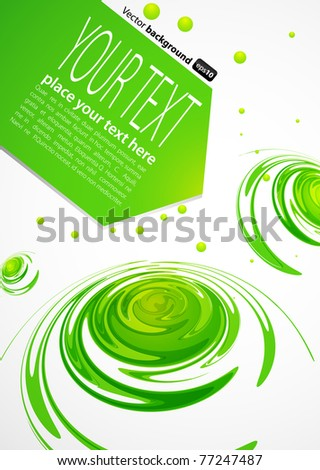 Abstract background. Green waves.