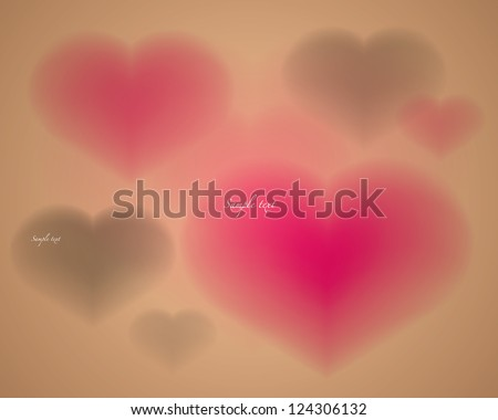 abstract background heart shape vector