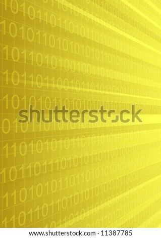 Abstract background  illustration of cyberspace  with elements of binary code.