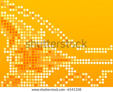 Abstract background illustration, with yellow tones. Graphic representation for business, fashion, internet, technology, communications purposes.Isolated space for text or graphic insertion.