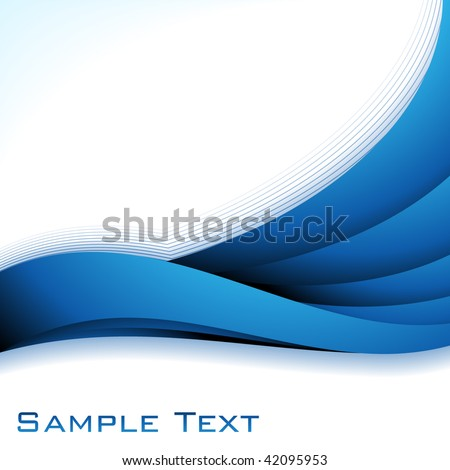 Abstract background in blue color. Vector.