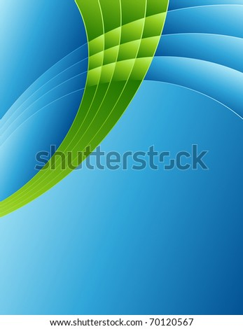 Abstract background in blue. Vector illustration.