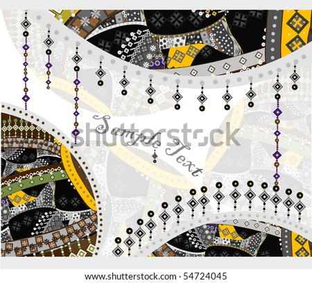 abstract background in ethnic style of the various elements