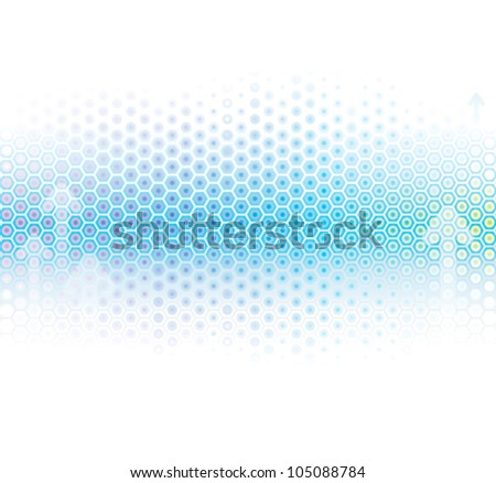 Abstract background in light blue.