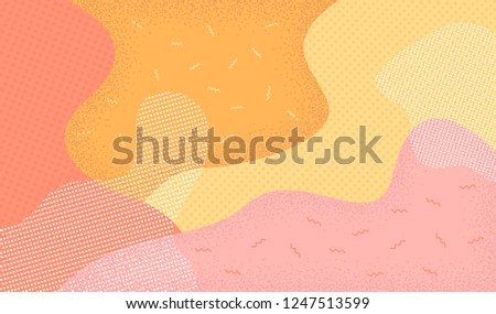 Abstract background in pop art style. Memphis 80s-90s style. Vector illustration colorful spotty pattern.