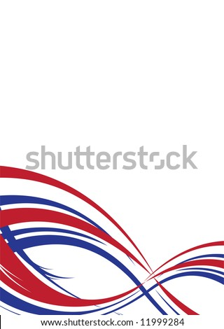 Abstract background in red white and blue us colors - stock vector