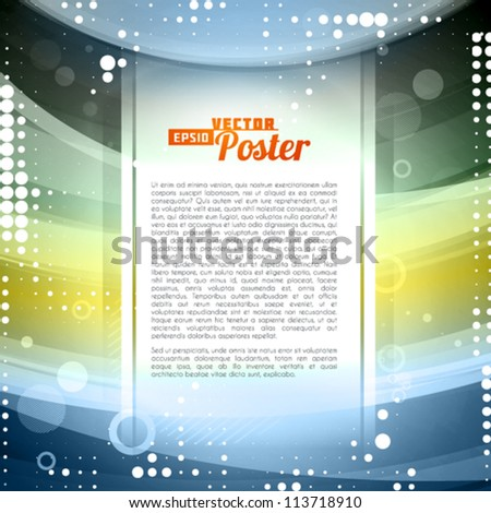 Abstract background in retro style. Vector
