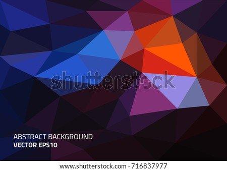 Abstract background in the polygonal style. Format A4.