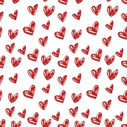 Abstract background is in the hearts. Drawing freehand pencil style. Background for Valentine's Day.