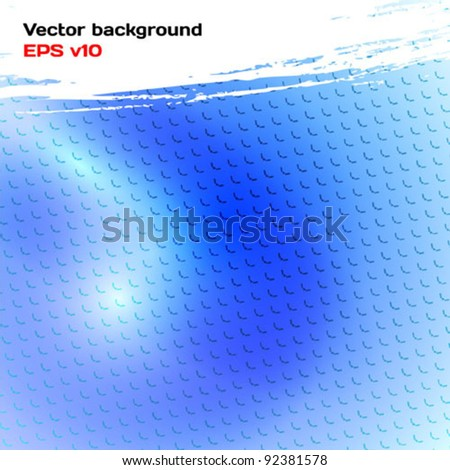 Abstract background light blue. Glow, brush stroke and dent. Vector illustration