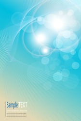 Abstract background light blue, soft and elegance. Vector illustration.
