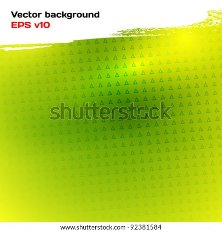 Abstract background light green. Glow, brush stroke and convexity. Vector illustration