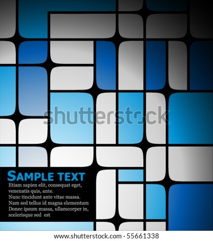 Abstract background made from blue squares