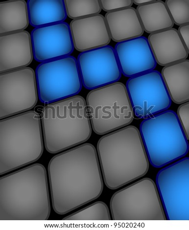 Abstract background made from gray and blue squares