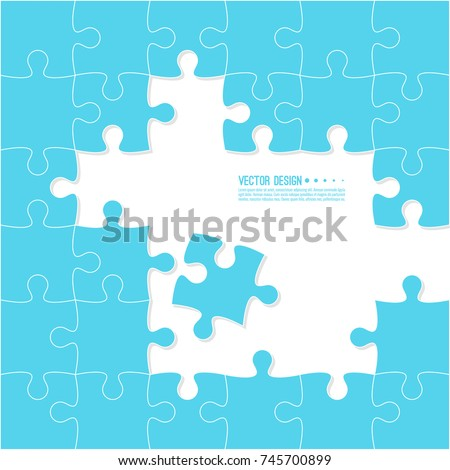 Abstract background made of Jigsaw puzzle pieces. Vector illustration.