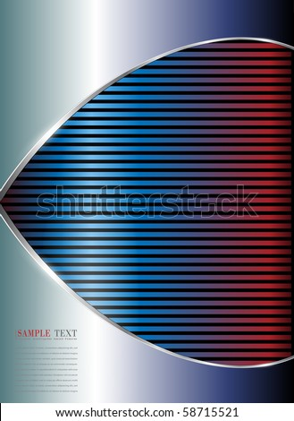abstract background metallic blue and red lines, vector.