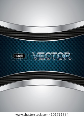 Abstract background, metallic blue brochure, vector