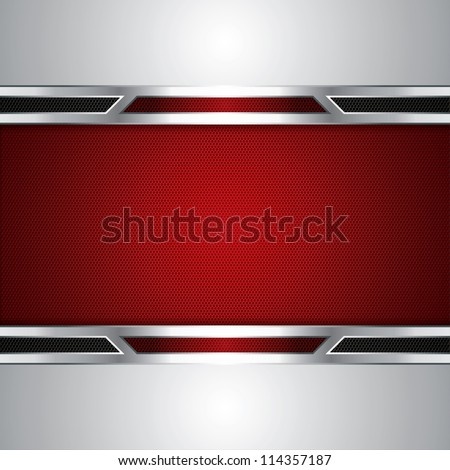 Abstract background metallic red brochure vector